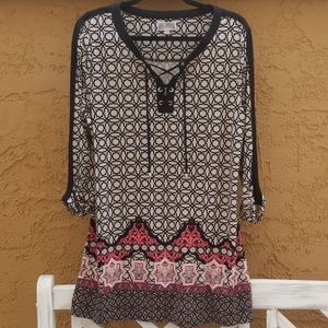 JM Collection   Tunic Dress